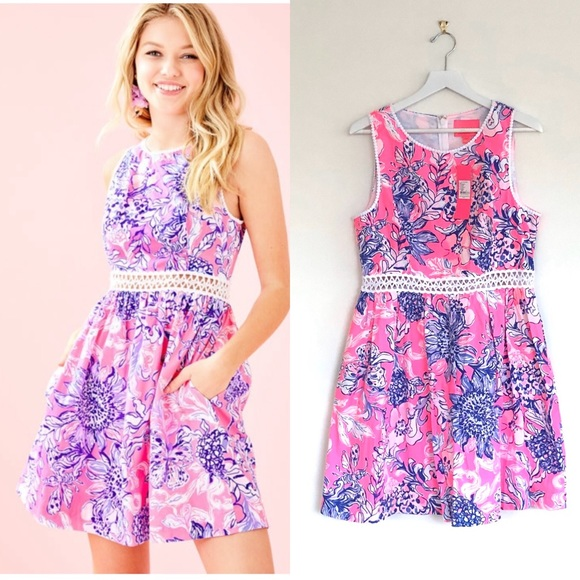 LP Pink Tropics Sun Drenched Alivia Mini Dress